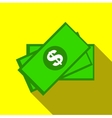 Money icon flat style vector image vector image