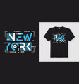 new york geometric abstract style t-shirt and vector image vector image