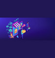online discount store concept isometric 3d banner vector image vector image