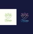 paradice tropic casino label emblem vector image vector image