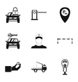 Parking icons set simple style vector image vector image