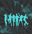 party crowd on abstract dots background vector image vector image