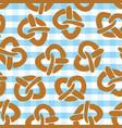 pretzel seamless pattern for oktoberfest vector image vector image