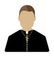 priest cartoon icon isolated vector image