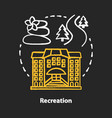 recreation chalk concept icon urban and outdoors vector image