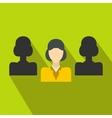 Recruitment icon in flat style vector image vector image