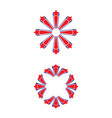 red and blue stars vector image vector image