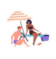 relaxing people romantic couple or friends vector image vector image
