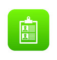resume of two candidates icon digital green vector image