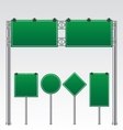Road sign green vector image vector image
