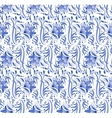 Russian national blue floral pattern vector image vector image