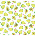 seamless avocado background vector image