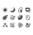 set nature icons such as moon stars vector image vector image