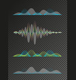 set of colored sound waves equalizer design vector image vector image