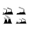 Set of industry manufactory building icons vector image