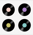 set of retro music vinyl records flat vector image