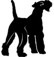 silhouette dog breed fox terrier vector image vector image