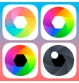 Simple flat camera objective icons for mobile iOS vector image vector image