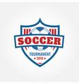 soccer brand design vector image vector image