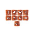 social icons 4 cookie vector image