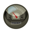 Speedometer with red arrow for car icon vector image vector image