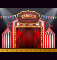 the circus entrance with a red curtain closed vector image vector image