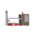 urban industrial building with pipes emitting gas vector image vector image