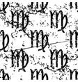 Virgo pattern grunge monochrome vector image
