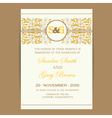 wedding card with floral ornament vector image vector image