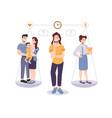 woman choose between family and career balance vector image