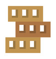 wooden pallets warehouse icon vector image