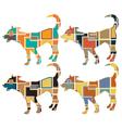 Young dog mosaics vector image vector image