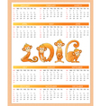 Calendar year monkey vector image