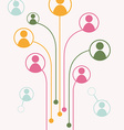 avatars growth tree connections vector image