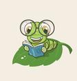 Cartoon bookworm vector image
