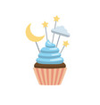 set cupcake toppers vector image