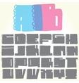 Doodle alphabet vector image