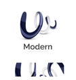 Abstract 3d swirl ribbon logo template with vector image vector image
