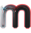 abstract font letter m vector image vector image