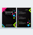 abstract modern flyer brochure design templates vector image