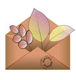 autumn background with leaves back to school vector image vector image