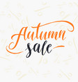 autumn sale lettering on a white background vector image vector image