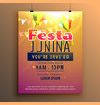 awesome festa junina celebration carnival season vector image vector image