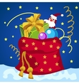 Big red bag with gifts on Christmas or New year vector image vector image