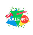 big sale poster banner big sale clearance vector image vector image