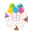 birthday celebration with balloons air party vector image vector image