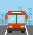 bus vehicle icon vector image