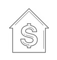 buy a house line icon vector image