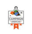camping logo with tents vector image