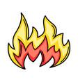 cartoon fire vector image